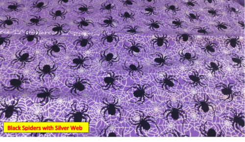Black Spiders with Silver Web