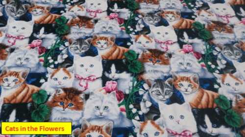Cats in the Flowers