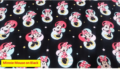 Minnie Mouse on Black